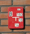 gevelbordje voor brandkraan